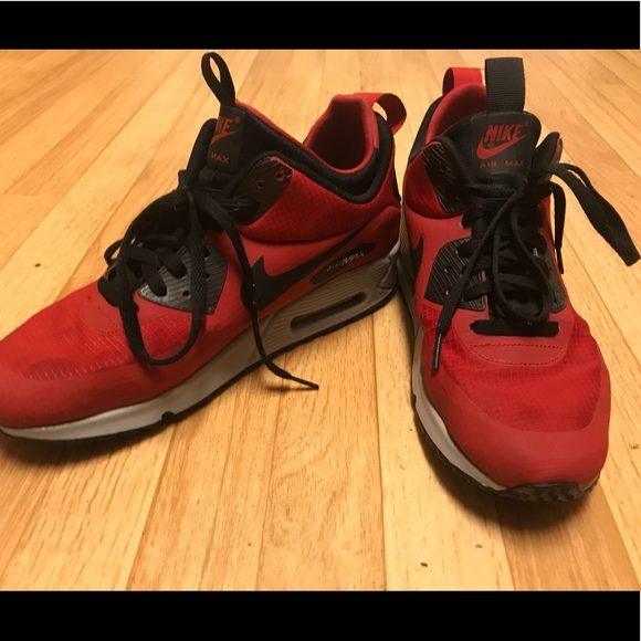 Nike Air Max 90 Mid Winter Gym Red Black Sneaker Bar Detroit